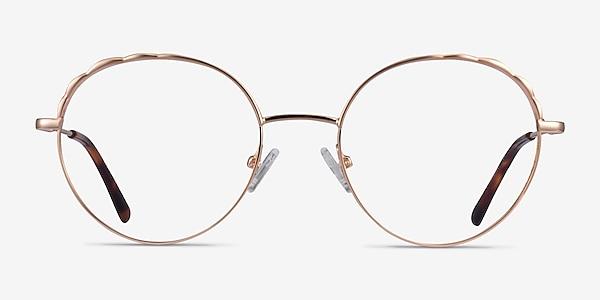 Cloud Rose Gold Metal Eyeglass Frames
