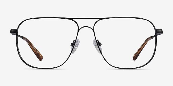 Dynamic Matte Black Métal Montures de lunettes de vue
