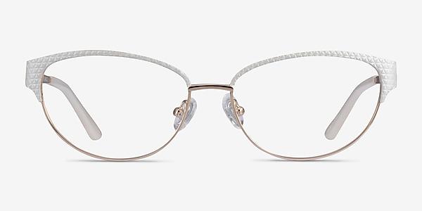 Experience White Gold Metal Eyeglass Frames