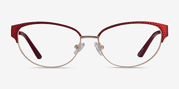 Experience Red Gold Metal Eyeglass Frames