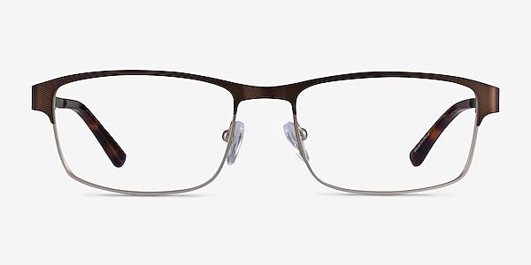 Quest Bronze Silver Metal Eyeglass Frames