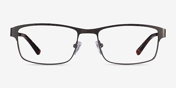 Quest Gunmetal Metal Eyeglass Frames