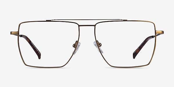 Perspective Bronze Metal Eyeglass Frames
