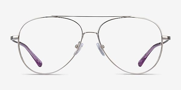 Aesthetic Argenté Métal Montures de lunettes de vue