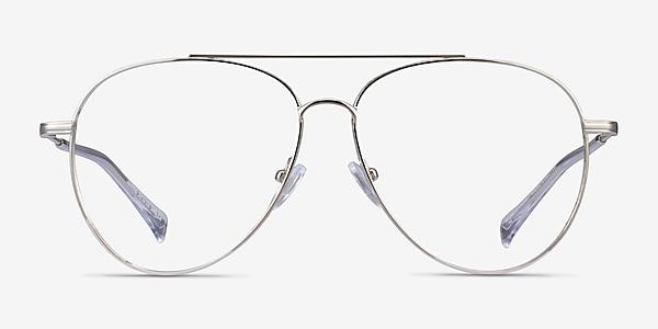 Jerrie Argenté Métal Montures de lunettes de vue