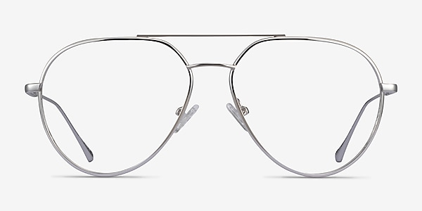 Telescope Argenté Métal Montures de lunettes de vue