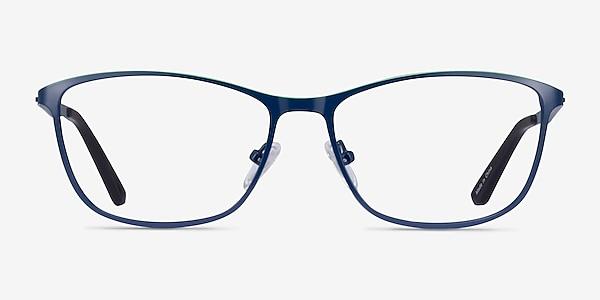 Lucas Navy Green Métal Montures de lunettes de vue
