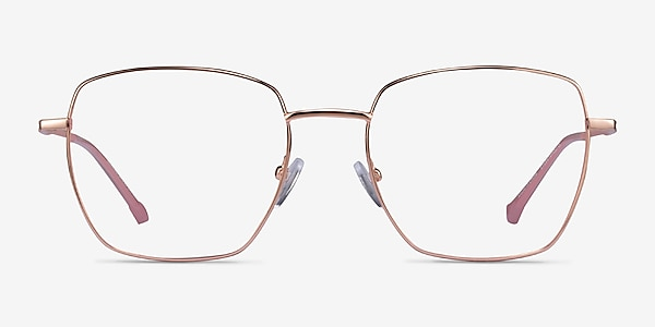 Genuine Rose Gold Pink Metal Eyeglass Frames