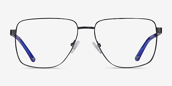 Hybrid Black Metal Eyeglass Frames