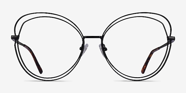 Stardust Matte Black Métal Montures de lunettes de vue