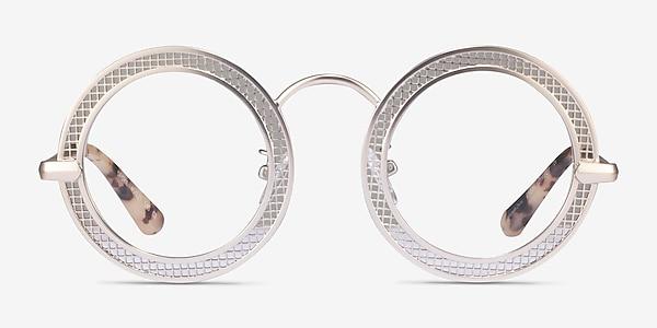 Spoke Matte Gold Metal Eyeglass Frames