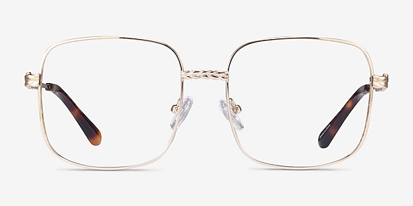Coil Gold Metal Eyeglass Frames
