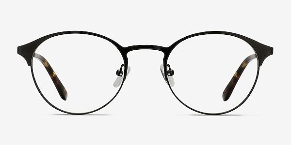 Little Time Black Metal Eyeglass Frames