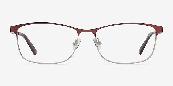 Ashlyn Red Metal Eyeglass Frames