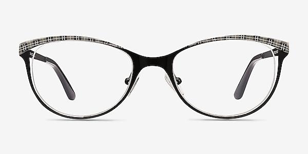 Deco Black Gray Métal Montures de lunettes de vue