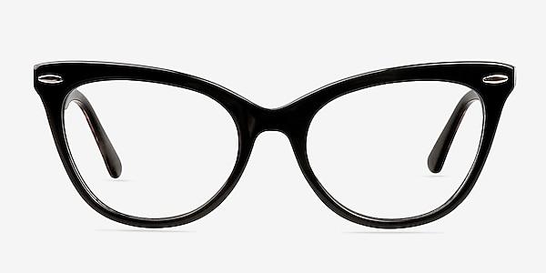 Anika Black Acetate Eyeglass Frames