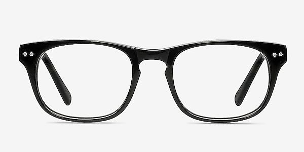 Carla Black Acetate Eyeglass Frames