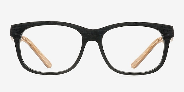 White Pine Black Acetate Eyeglass Frames