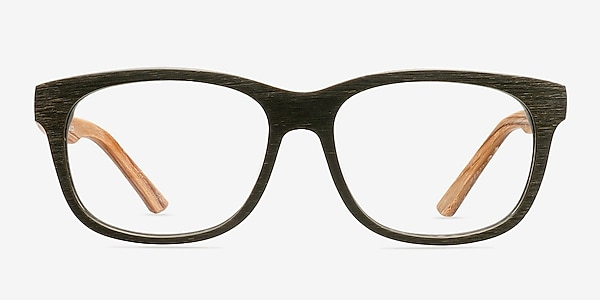 White Pine Olive Acetate Eyeglass Frames