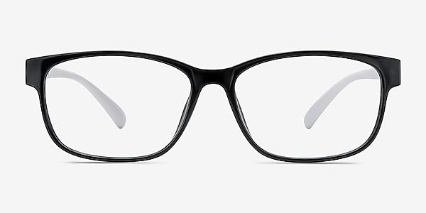 Robbie Black/White Plastique Montures de lunettes de vue