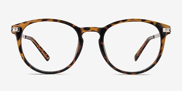 Daphne Brown/Tortoise Plastic-metal Eyeglass Frames