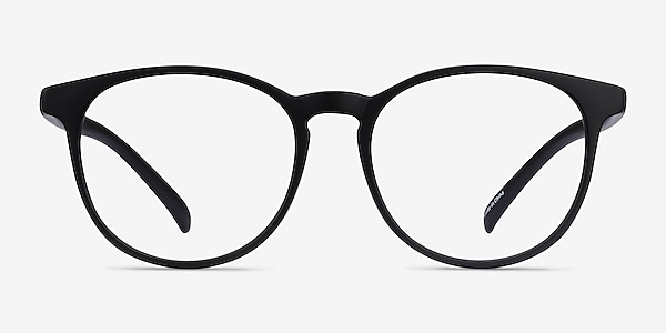Chilling Black Plastic Eyeglass Frames