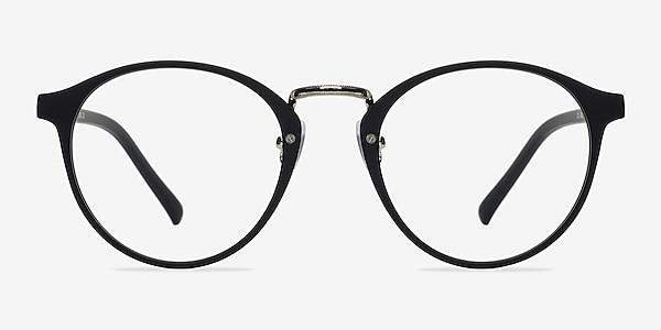 Chillax Matte Black/Silver Plastic Eyeglass Frames