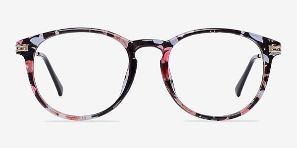 Muse Blue Floral Plastic-metal Montures de lunettes de vue