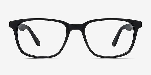 Bristol Matte Black Acetate Eyeglass Frames