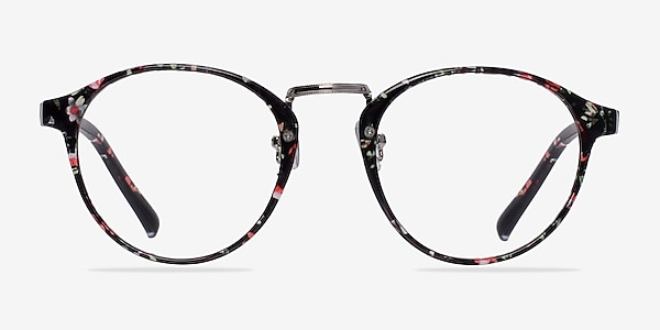 Small Chillax Red/Floral Plastic Eyeglass Frames