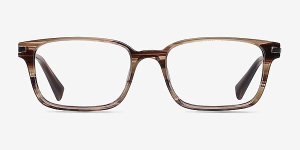 Dreamer Brown/Striped Acetate-metal Montures de lunettes de vue