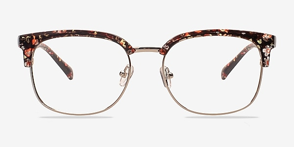 Charleston Silver/Floral Plastic-metal Eyeglass Frames