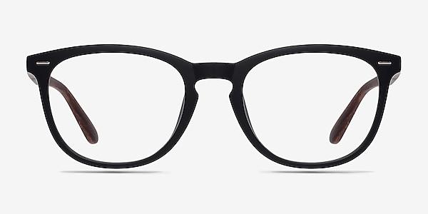Yolo Black/Brown Plastic Eyeglass Frames