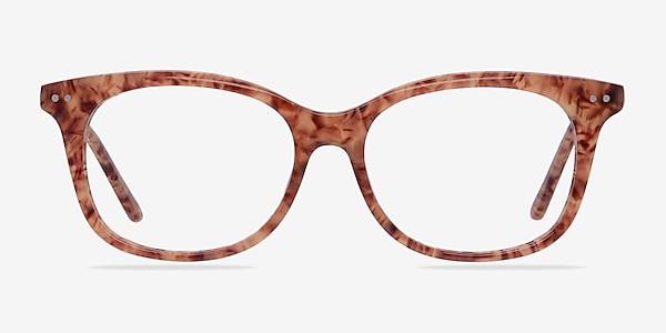 Brittany Brown/Floral Acetate Eyeglass Frames