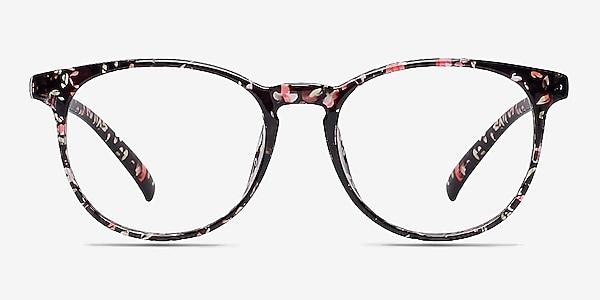 Chilling Red/Floral Plastic Eyeglass Frames