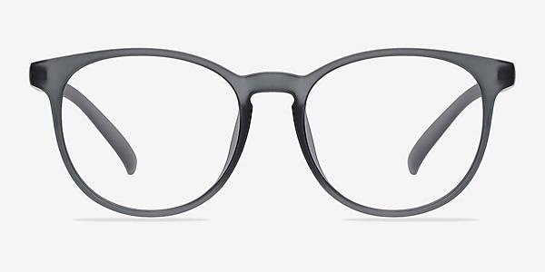 Chilling Matte Gray Plastic Eyeglass Frames