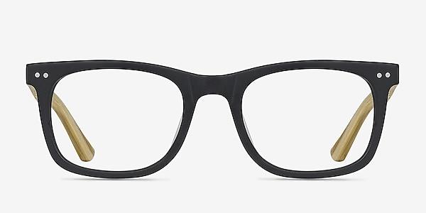 Montreal Matte Black Acetate Eyeglass Frames