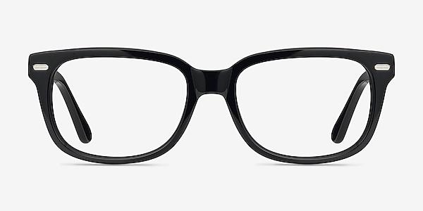 Little John Black Acetate Eyeglass Frames