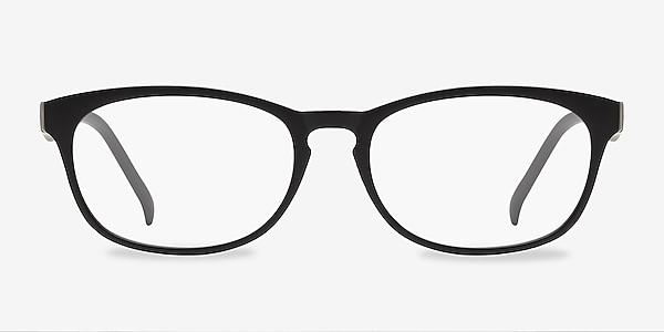 Drums Matte Black Plastic Eyeglass Frames