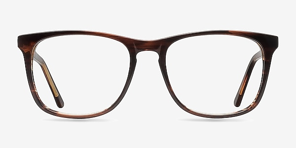 Skyline Brown Striped Acetate Eyeglass Frames