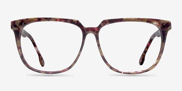 Capucine Red Floral Acétate Montures de lunettes de vue