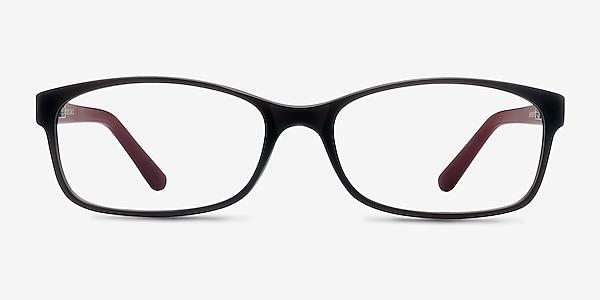 Beads Matte Gray Plastic Eyeglass Frames