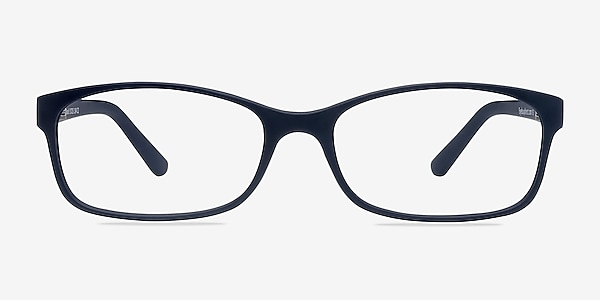 Beads Matte Navy Plastic Eyeglass Frames