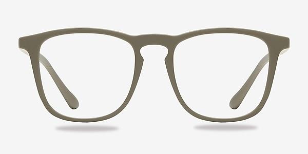 Central  Matte Green  Plastic Eyeglass Frames