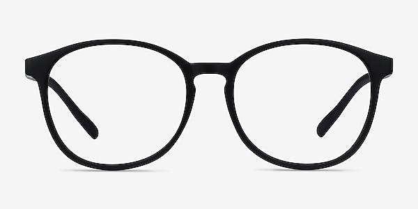 Dutchess Matte Black Plastic Eyeglass Frames