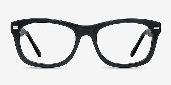 Cage  Black  Acetate Eyeglass Frames