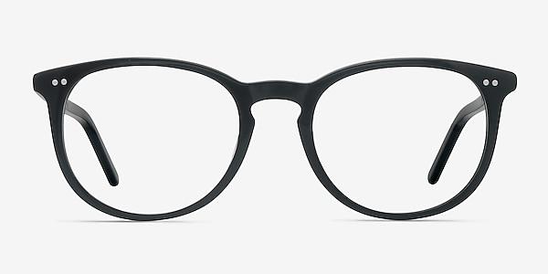 Aura Jet Black Acétate Montures de lunettes de vue