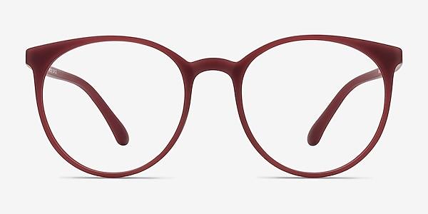 Portrait Matte Red Plastique Montures de lunettes de vue