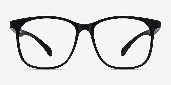 Character Matte Black Plastic Eyeglass Frames
