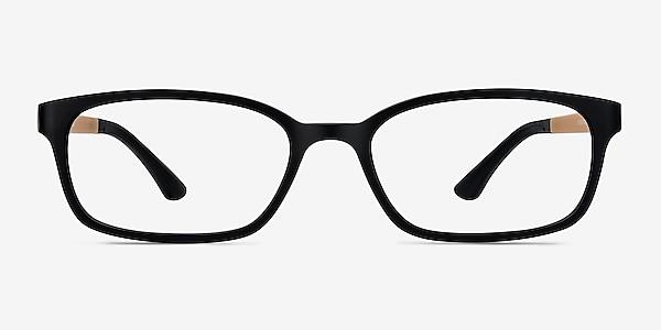 Clover Black & Apricot Plastic Eyeglass Frames
